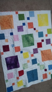 Hand dyed fabric -